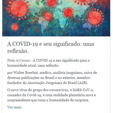 A COVID-19 e seu significado: uma reflexão.